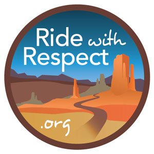 Ride with respect logo
